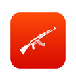 kalashnikov machine icon digital red vector image vector image