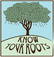 Know Your Roots vector image vector image