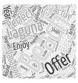 Laguna Beach California Word Cloud Concept vector image vector image