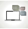 Laptop with black screen vector image vector image