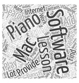 learn to play piano with a mac software Word Cloud vector image vector image