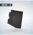 map us state arizona on a white vector image vector image