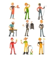 Men Profession Colourful Set vector image vector image