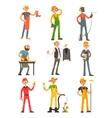 Men Profession Colourful Set vector image