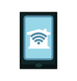 Modern device connected to home net by wi-fi vector image