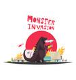 modern monster dragon vector image vector image