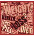 No Shortcuts to Health and Weight Loss text vector image vector image