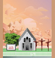 parish church easter service at dawn vector image vector image