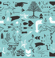pattern with various typographic arrows vector image