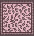pink paisley bandana image vector image vector image