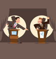 politicians speaking banner vector image vector image