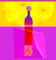 poster with wine on pop art vector image