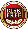 risk free icon vector image