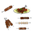 roasted meat barbecue vector image