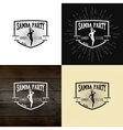Samba party badges logos and labels for any use vector image vector image