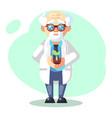 scientist is conducting a scientific experiment vector image vector image