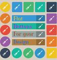 screwdriver icon sign Set of twenty colored flat vector image