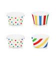 set of paper mold for cupcake utensil for baking vector image
