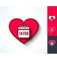 Set of valentines calendar reminder symbols vector image vector image