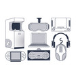 set of videogame consoles vector image vector image