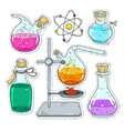 set various devices for chemical experiments vector image vector image