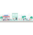 shop reopening after quarantine happy people vector image vector image