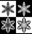 snowflake symbols icons simple black white set 3 vector image