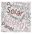 Solar Energy Risks To Health text background vector image vector image