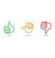 thumbs up down set vector image
