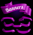 violet banners vector image