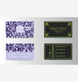 visiting cards set collection business card set vector image vector image