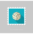 Volleyball flat stamp Summer Vacation vector image vector image