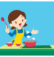 woman present cooking vector image