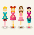 women flet design woman characters set vector image