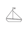 Yacht ship icon outline vector image vector image