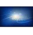 Abstract light bubbles background vector image
