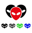 alien visitor heads flat icon vector image vector image
