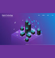 analysis and investment data visualization vector image vector image