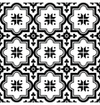 Arabic pattern Moroccan black tiles design vector image vector image