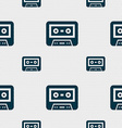 audiocassette icon sign Seamless pattern with vector image vector image
