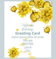 autumn golden leaves card watercolor vector image vector image