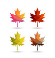 autumn leaves with colorful styles vector image vector image