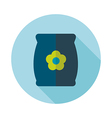 Bag sack flower seed flat icon vector image vector image