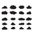 balck Cloud set vector image vector image