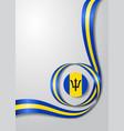 barbados flag wavy background vector image vector image