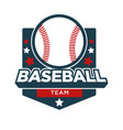 baseball sport team badge icon vector image vector image