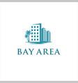 bay area logo design idea vector image vector image