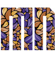 Beautiful floral alphabet letters M and N vector image vector image