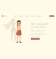 best manager landing page template super vector image vector image