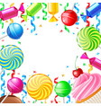 birthday background with sweets vector image vector image